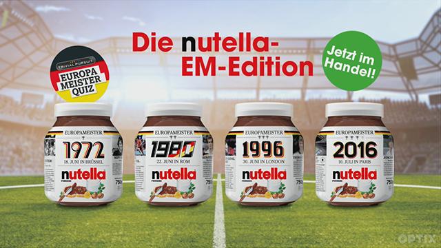 Nutella EM 2016 Glas